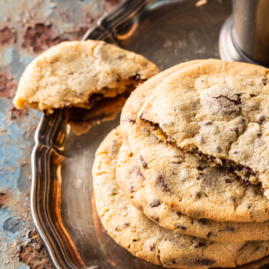 vegan chocolate chip cookie