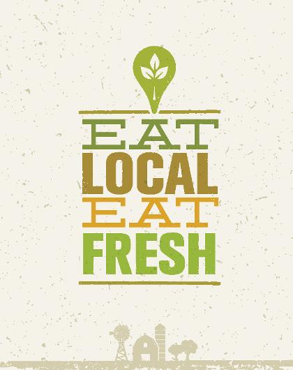 eat local eat fresh
