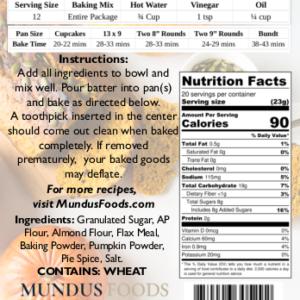 vegan baking mix, plant based baking mix